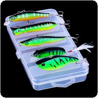 5pcs/set Mixture Artificial Fishing Lures Hard Baits Minnow VIB Crankbait Wobbler with Box for Seawater Fishing