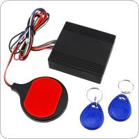 12V Motorcycle ID Card Sensing Stealthy Lock Anti-theft Device Intelligent IC Swiping Card Sensing Lock for Motorcycle Scooter