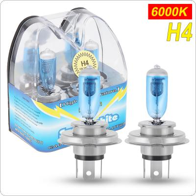 2pcs H4 100W White Light Super Bright Car HOD Xenon Halogen Lamp Auto Front Headlight