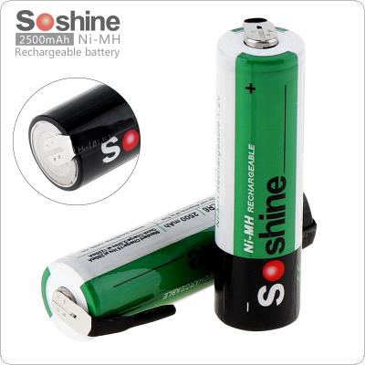 Soshine 2pcs 1.2V 2500mAh Ni-MH Rechargeable Battery with Nickel Sheet for Screwdriver / Drill
