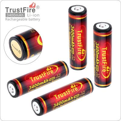 TrustFire 4pcs 3.7V 3400mAh 18650 Li-ion Rechargeable Battery High Capacity with Protected PCB for LED Flashlights / Headlamps