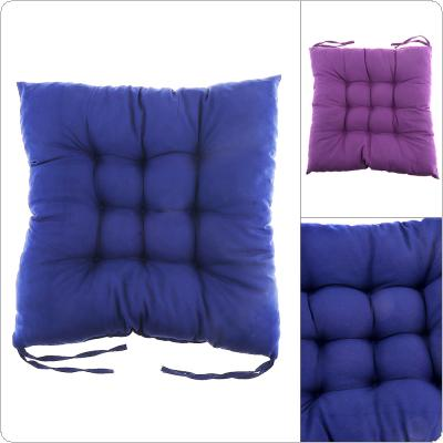Soft Square Cotton Chair Cushion with Two Bandage Seat Cushion for Home Office