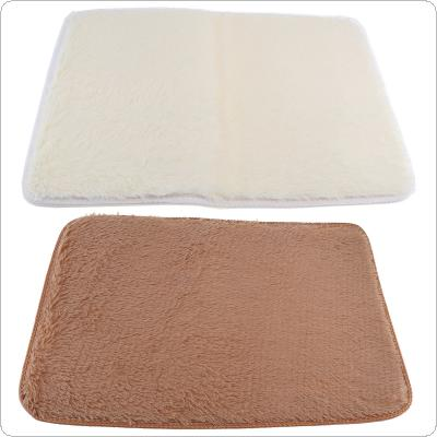 40 x 60CM Soft Coarse Sheep Wool Silky Carpet Floor Mats with Non-slip Bottom and Rectangular Shape for Living Room / Bedroom