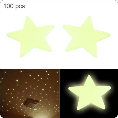 100pcs/lot 3CM Fluorescent Luminous Stars Wall Stickers Stars Glow In The Dark for Kids Baby Room DIY Wall Art Home Decor Sticker