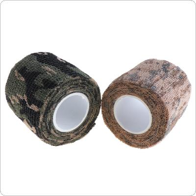 2pcs 4.5M Durable Roll Men Army  with Adhesive Camouflage Tape for Outdoor Tools