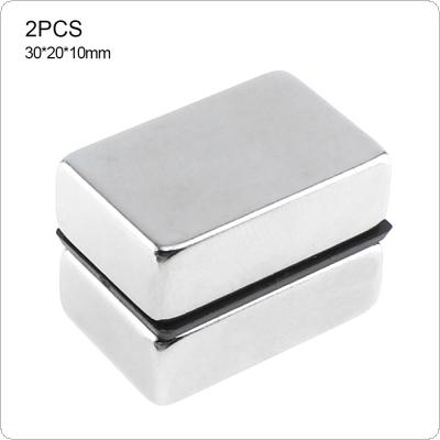 2pcs 30 x 20 x 10MM Strong Magnetite with Rectangle Type and  Earth Magnet for Home / Office / Laboratory