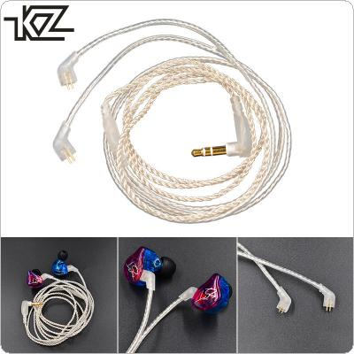 KZ Silver Plated 100 Cable Core Headset Wire with 0.75MM Standard Gold-Plated Pins for  ZST / ZSR / ES3 / ED12 / ZS3 / ZS4 / ZS5 / ZS6
