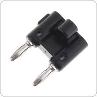 2pcs Low Frequency 4mm Double Banana Plugs with Spacing 19mm for Digital Multimeter Power Strip
