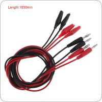 4pcs 4mm Banana Plug Core Alligator Clip Wire with 2.8mm External Diameter and 22AWG Pure Copper Wire for Power Output