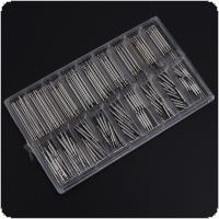 144pcs Watch Accessories 8-25mm Wrist Strap Link Shaft Tools with All Stainless Steel Shaft for Watch Clock Repair