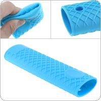 Blue Flexible Soft Silica Non Slip Gel Pot Handle with Insulation Performance for Kitchen / Restaurant
