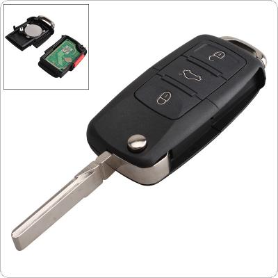 315Hz 3 Buttons Replacement Remote Car Key Fob Transmitter Clicker Alarm with Key for Volkswagen HLO1J0959753DC HLO1J0959753AM