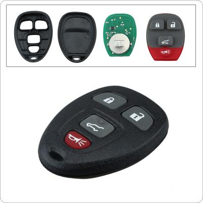 315Hz 4 Buttons Remote Start Keyless Entry Key Fob Transmitter Clicker Alarm for Chevy CMG OUC60270 / 15913416
