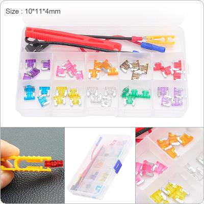 40pcs/set Colorful Mini Blade Fuse Assortment Take Electrical Appliances Set with Plastic Box for Cars