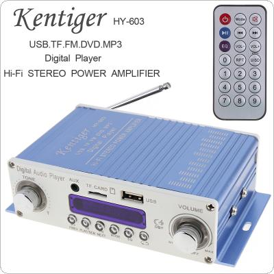 HI-FI Digital Audio Player Car Amplifier FM Radio Stereo Player Support SD / USB / DVD / MP3 Input with Remote Control