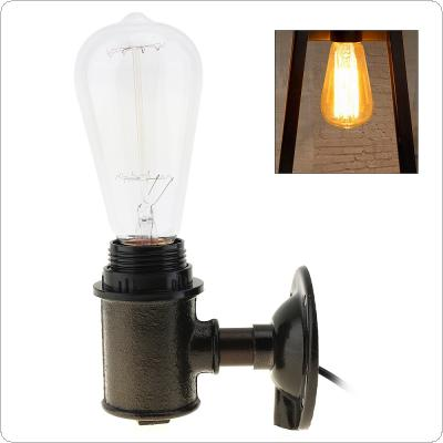 Creative Retro Style Edison Light Bulb with Lamp Holder 110V-240V 40W and Water Pipe Type for Home Shop Decoration