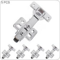 5pcs Stainless Steel Cabinet Door Hinge with Detach Button and Hydraulic Stick for Cupboards / Wardrobe
