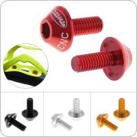 2pcs/lot Bicycle Water Bottle Holder Mount Bolts Aluminium Alloy Screw to Install Bike Bottle Cage Rack