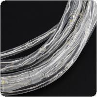 Transparent Solid Tube Warm White Solor LED Strip Lights with Waterproof Battery Box Support AAA Battery and Remote Control for Christmas Decorations
