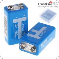 TrustFire 2pcs 9V 350mAh Ni-MH Rechargeable Battery with 3A Charging Current for Multimeter / Wireless Microphone / Alarm