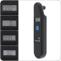 Portable ABS Precision Electronic Digital Tire Gauge with LCD Display and Matte Non-slip Surface for Car Tire