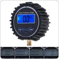 Portable ABS + Metal Precision Electronic Digital Tire Gauge with Night Vision and Metal Connector for Car Tire