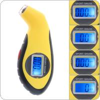GL-0812 ABS Portable Precision Electronic Digital Tire Gauge with Night Vision and Emergency Lighting for Car Tire