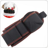 Multifunction Durable Waterproof Waist Tool Bag with 7 Holes and Electric Drill Pocket for Home / Industrial Maintenance