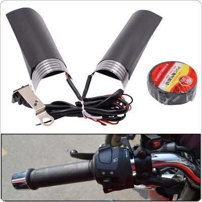 1 Pair 12V 20W Motorcycle Universal Electric Heated Handle with Adjustable Switch Temperature and PET Metal Heating Film