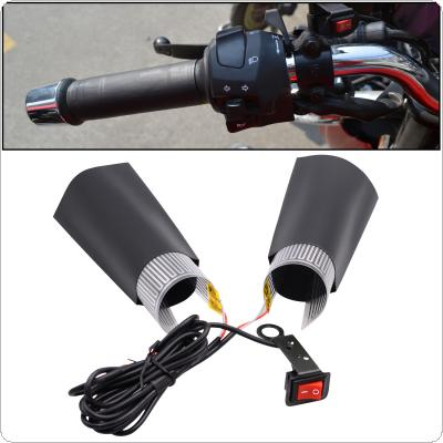 1 Pair 12V 30W Motorcycle Universal Electric Heated Handle Grip with PET Metal Heating Film and Ship Type Switch