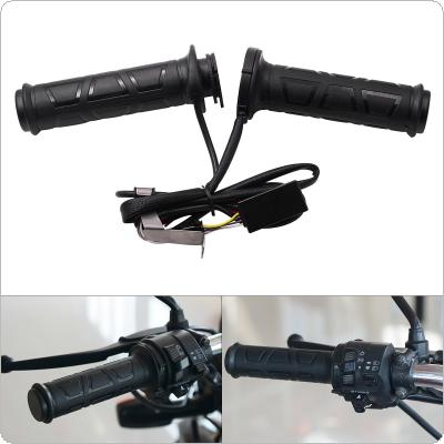 1 Pair 12V 12W ~ 24W 22MM Adjustable temperature Motorcycle Universal Electric Heated Handle with Heat-Shrinkable T Bush and Multistage Adjustable switch