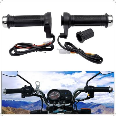 12V 25W 22MM Motorcycle Universal Adjustable Temperature Electric Heated Handle with Accelerator Cards Pieces and Three Gears Regulating Switch