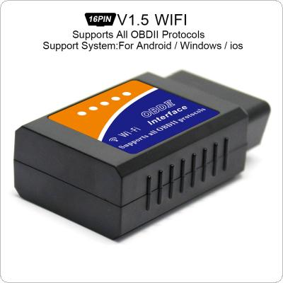 ELM327 V1.5 Super Mini WiFi Scanner Wireless Interface Auto V03HW-1 Interface Code Readers Diagnostic Tool OBDII Protocols