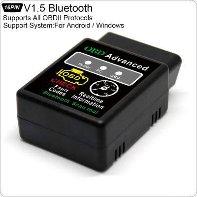 Super Mini Bluetooth Scanner V1.5 Wireless Interface Auto V02H2-1 Interface Code Readers Diagnostic Tool OBDII Protocols