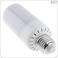 7.5W 85-265V 99 LED E27 Torch Lamp with LED Flame Effect and 3 Working Modes for Holiday / Garden / Bar