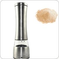 Electric Salt Pepper Mills Grinder Spice Mill Battery Power with Adjustable Ceramic and LED Light for Cooking Tool