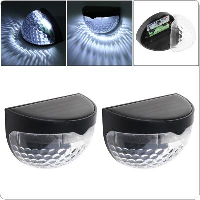 2pcs Waterproof Solor LED Wall Lamp Night Light with Motion Sensor and Semi-circle Type for Garden / Staircase / Door