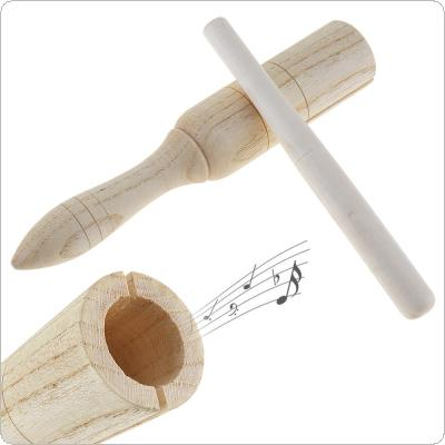 Sound Tube Wooden Crow Kid Children Gift Wood Sounder Musical Toy Percussion Education Instrument with Stick