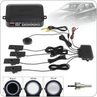 4 Sensor 16.5mm Car Video Parking Sensor Reverse Backup Radar Assistance Original Flat Sensors According To The Distance Support Car Camera