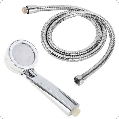 2pcs Anion Shower Head Sets Electroplate Handheld High Pressure Water Saving Shower with 1.5m Hose for Bathroom