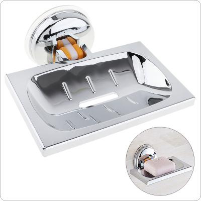 Stainless Steel Strong Suction Square Shower Soap Holder Soap Box with Chrome Soap Dish for Bathroom