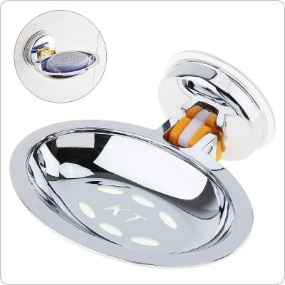 Stainless Steel Strong Suction Round Shower Soap Holder Soap Box with Chrome Soap Dish for Bathroom