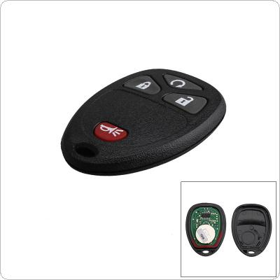 315Hz 4 Buttons Remote Start Keyless Entry Key Fob Transmitter Clicker Alarm for Chevy CMG OUC60270 / 15913421