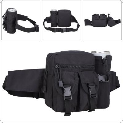 Multifunction Military Equipment Waist Bag Tactical Pockets Leisure Outdoor Package With Detachable Cup Bag and Velcro-Strap for Riding Camping Travel