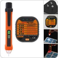 90V ~ 120V Portable Electrical Smart Socket Tester + 50-60Hz AC 12-1000V Pen Circuit Detector