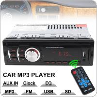 60W x 4CH Car Audio Stereo In Dash Music MP3 Player Radio FM / USB / SD / AUX / MMC Input Receiver