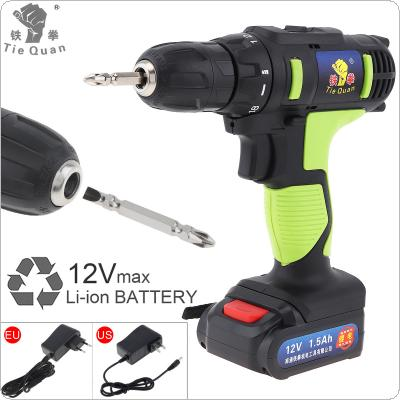 AC 100 - 240V Cordless 12V Electric Drill / Screwdriver with 18 Gear Torque and Two-speed Adjustment Button for Handling Screws / Punching