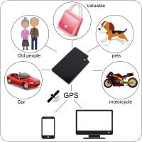 GT012 Ultra-thin Card Shape GPS Tracker Locator Real Time Anti-lost Tracking System for Old Man Children Cars