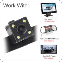 CMOS Waterproof Car Rear View Reverse Backup Camera Night Vision Parking Reversing Assistance with Light