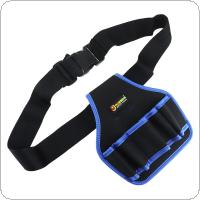 Multifunctional Durable Waterproof Waist Tool Bag with 5 Holes for Home / Industrial Maintenance